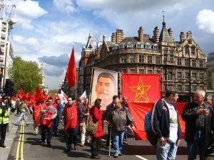 Демонстрация в Лондон, 1 май 2008