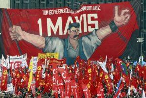 Демонстрация на площад Таксим в Истанбул,Турция, 1 май 2011