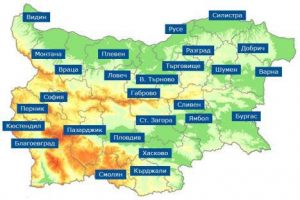 Карта на градовете