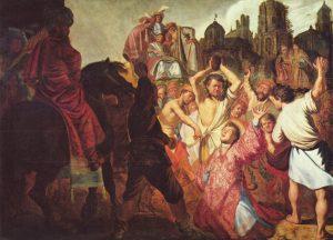 Картина от Рембранд изобразяваща убийството с камъни на Свети Стефан