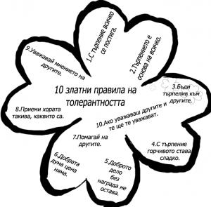 10 златни правила на толерантността